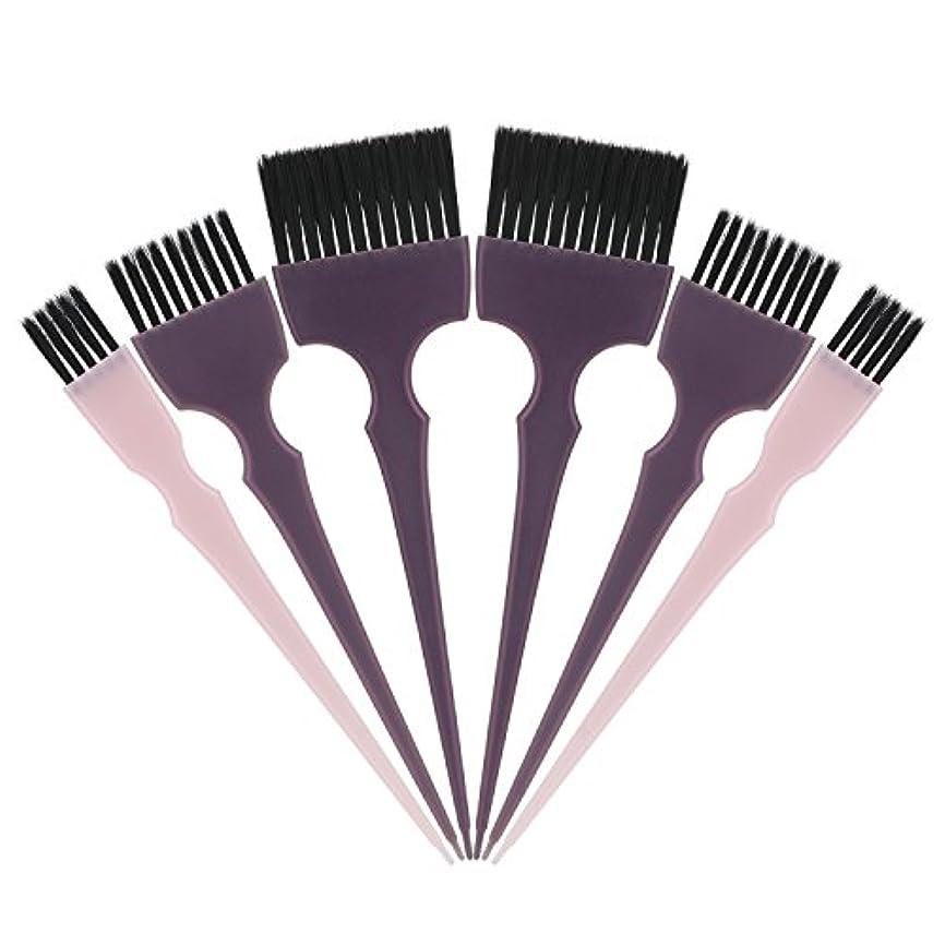 ドット戸惑う一方、Segbeauty 髪染めのブラシ 六本のセット サロンの美髪用 プロのヘアカラーリング用