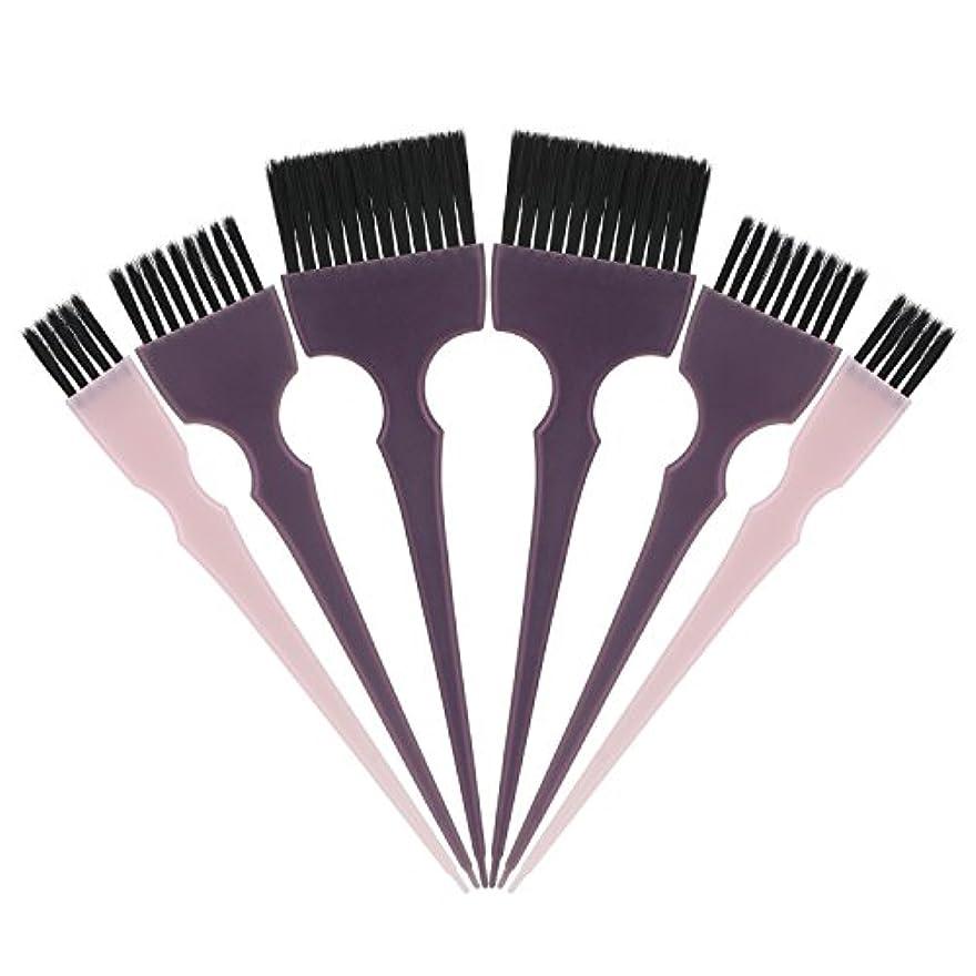 首謀者未満食器棚Segbeauty 髪染めのブラシ 六本のセット サロンの美髪用 プロのヘアカラーリング用