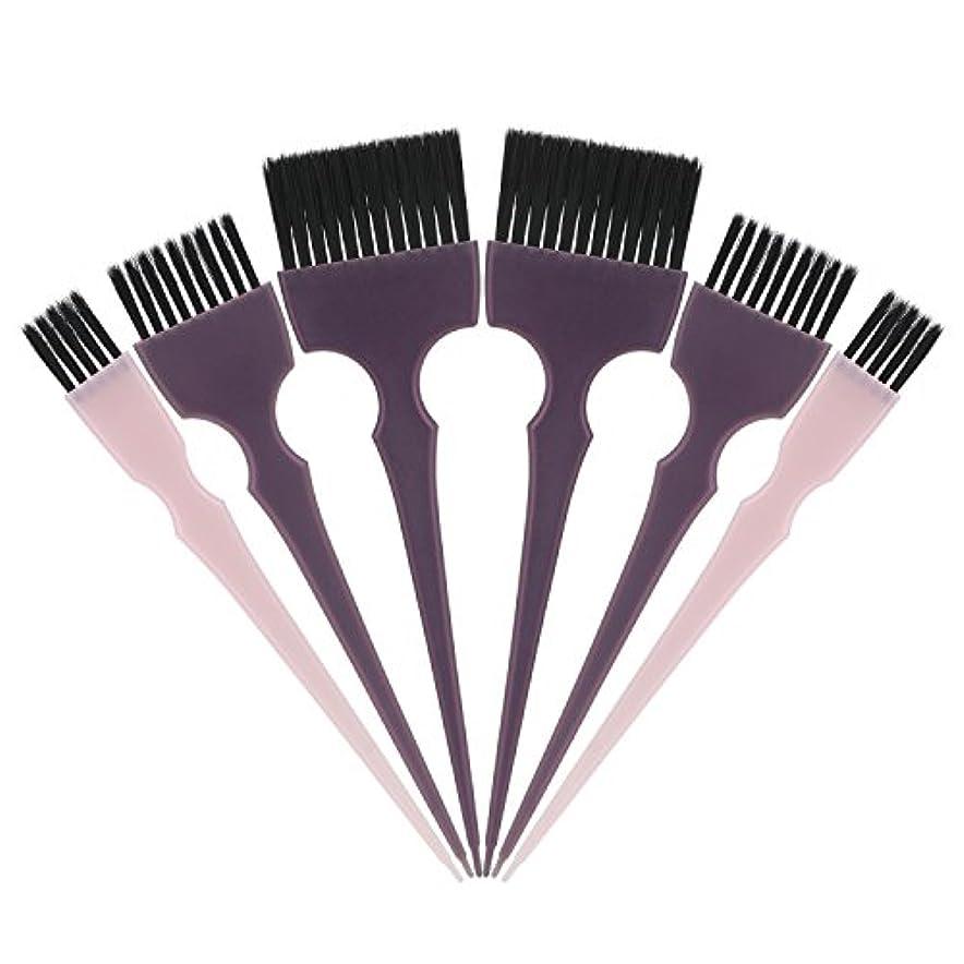 振る電圧定数Segbeauty 髪染めのブラシ 六本のセット サロンの美髪用 プロのヘアカラーリング用