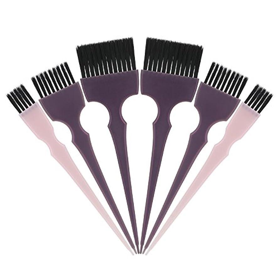 夕方涙が出るハリケーンSegbeauty 髪染めのブラシ 六本のセット サロンの美髪用 プロのヘアカラーリング用