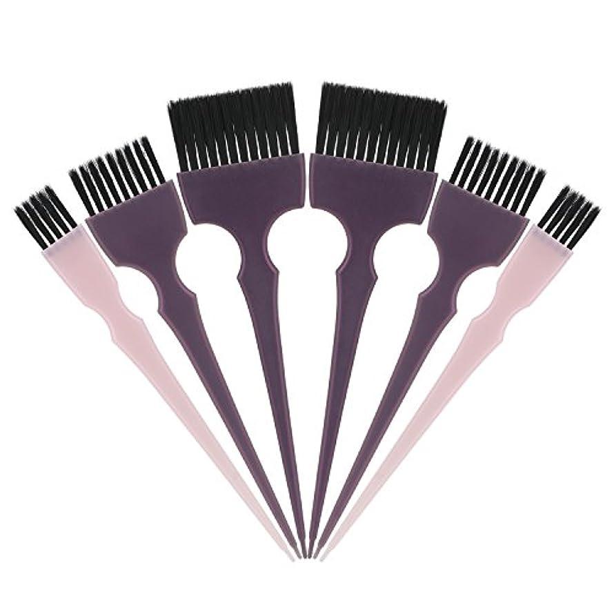 バリア路地メロドラマティックSegbeauty 髪染めのブラシ 六本のセット サロンの美髪用 プロのヘアカラーリング用