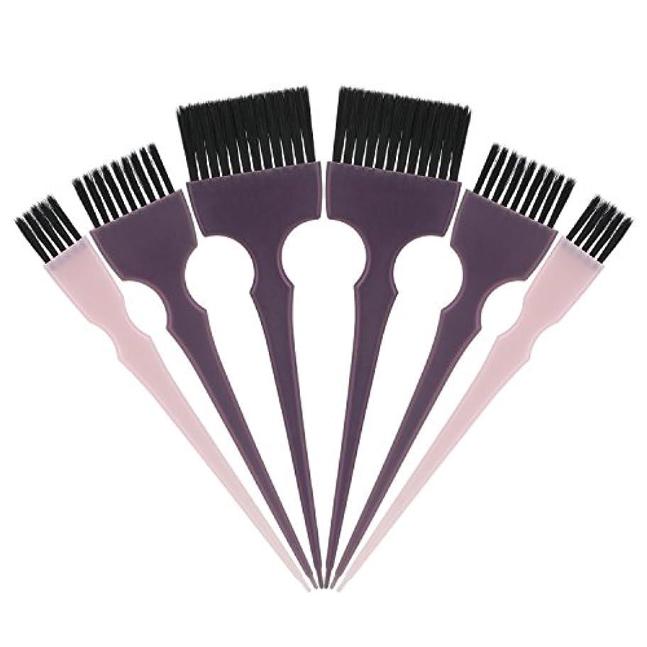 出版噴火水族館Segbeauty 髪染めのブラシ 六本のセット サロンの美髪用 プロのヘアカラーリング用