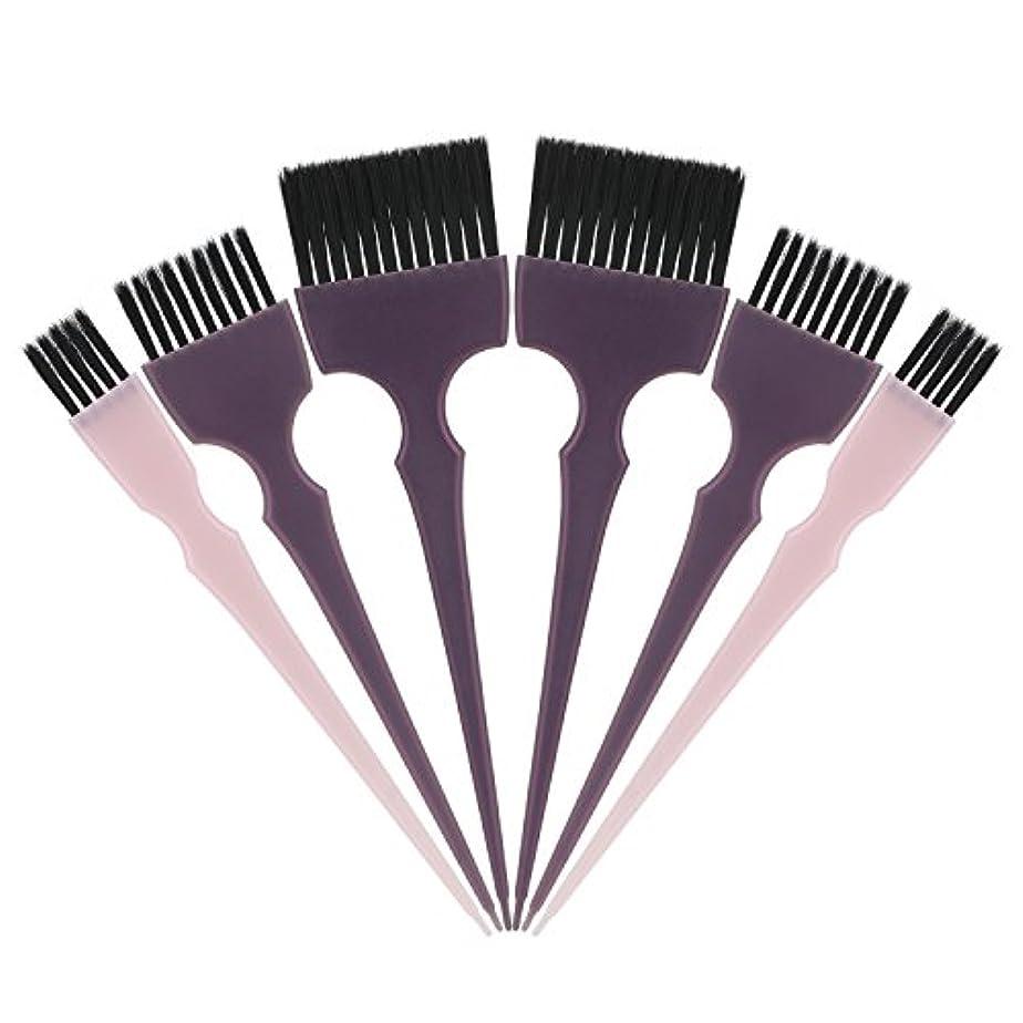 アジャ警戒ためらうSegbeauty 髪染めのブラシ 六本のセット サロンの美髪用 プロのヘアカラーリング用