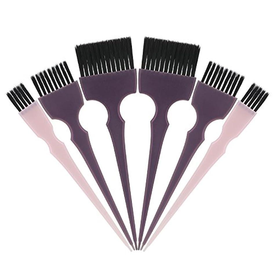 平和安心させるベルトSegbeauty 髪染めのブラシ 六本のセット サロンの美髪用 プロのヘアカラーリング用