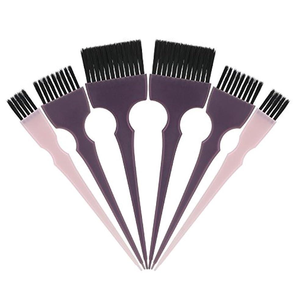 型に渡ってアームストロングSegbeauty 髪染めのブラシ 六本のセット サロンの美髪用 プロのヘアカラーリング用