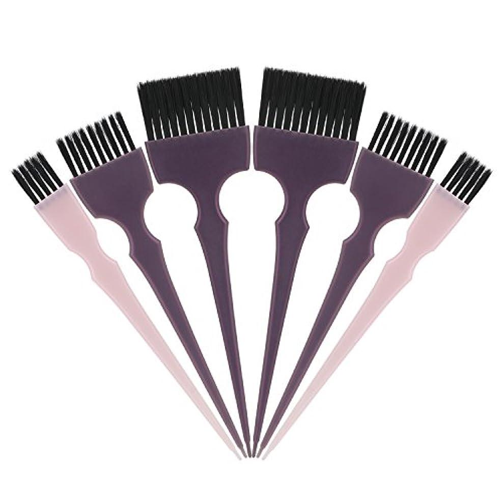 正規化雄弁日Segbeauty 髪染めのブラシ 六本のセット サロンの美髪用 プロのヘアカラーリング用