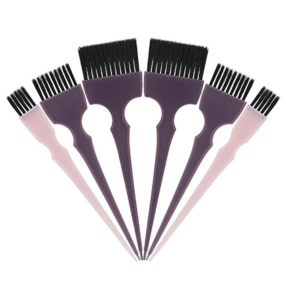 溢れんばかりの不運トライアスロンSegbeauty 髪染めのブラシ 六本のセット サロンの美髪用 プロのヘアカラーリング用