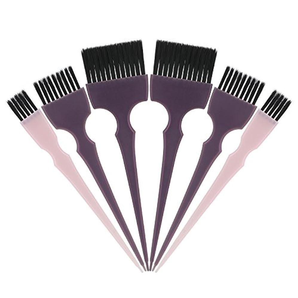 最悪ノイズ遺産Segbeauty 髪染めのブラシ 六本のセット サロンの美髪用 プロのヘアカラーリング用