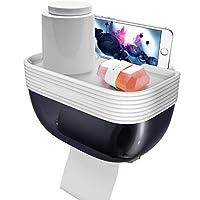 ペーパーホルダ、パンチなし棚丈夫プラスチックインストールが簡単強いベアリングロールホルダー紙巻器のために適した浴室浴室-ペーパーホルダ