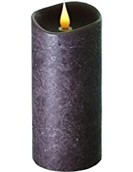 エンキンドル 3D LEDキャンドル ラスティクピラー 直径7.6cm×高さ18.5cm ブラウン