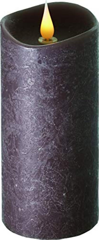 パンサー迅速前件エンキンドル 3D LEDキャンドル ラスティクピラー 直径7.6cm×高さ18.5cm ブラウン