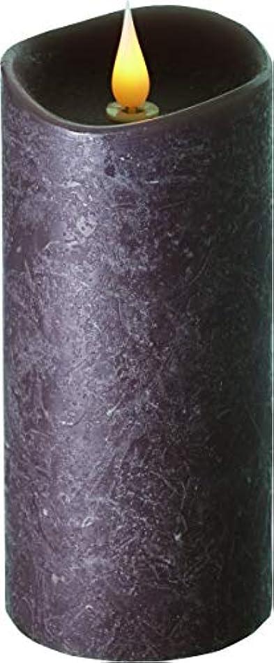 代表する効率文字通りエンキンドル 3D LEDキャンドル ラスティクピラー 直径7.6cm×高さ18.5cm ブラウン