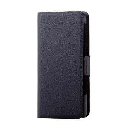 エレコム Walkman S 手帳型 レザー  ウルトラスリム サイドマグネット ブラック AVS-S17PLFUBK