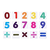 BCP set of 15 pcs Plastic Magnetic Number and Math Sign Flash Cards for Kids Learning [並行輸入品]