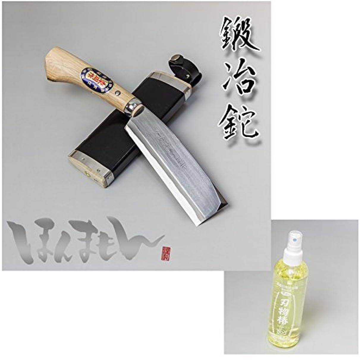 ピクニックをする預言者彼女は本場土佐 火造り鉈 最高級 腰ナタ 片刃 白紙 鋼 150 mm+ 椿油 245ml セット