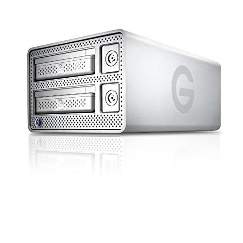 G-Technology (HGST) G-DOCK ev with Thunderbolt リムーバブル対応HDD 2.0TB(1.0TB×2)搭載 2ベイ 外付けハードディスク RAID 0,1対応 【3年保証】 0G02721AZ