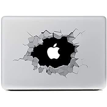 Portworld Apple Macbook Air Macbook Pro 対応 ステッカー スキンシール 黑穴 Removable Vinyl Decal Apple Macintosh [並行輸入品]