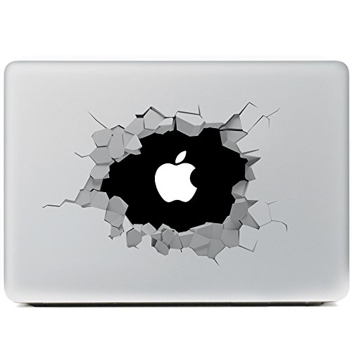 Portworld Apple Macbook Air Macbook Pro 対応 ステッカー スキンシール 黑穴 Removable Vinyl Decal Apple Macintosh [並行輸入品]
