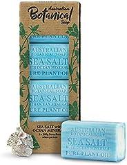 Australian Botanical Soap, Sea Salt with Ocean Minerals Pure Plant Oil Soap, 6.8 oz. 193g Bars - 8 Count