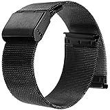 PIXNOR 腕時計用ベルト ステンレスメッシュ メタルスライドバンド ミラネーゼブレス 22 mm