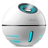 加湿器 Kungix 超音波加湿器 卓上 小型 空気清浄機 乾燥対策 空焚き防止 水漏れ防止 300ml USB充電式 省エネ 静音 7色変換LED搭載 寝室 オフィス 車載 加湿器 電池内蔵 コードレス 便利
