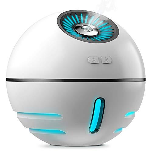 加湿器 Kungix 超音波加湿器 卓上 小型 空気清浄機 乾燥対策 空焚き防止 水漏れ防止 300ml USB充電式 省エネ 静音 7色変換LED搭載 寝室 オフィス 車載 加湿器