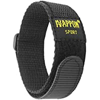 IVAPPON Hook Loop Sport Watch Strap 18mm 20mm Nylon Straps Black Blue Fastening Watchband