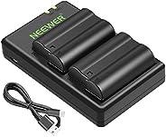 Neewer EN-EL15 EN-EL15A Battery Charger Set Compatible with Nikon d750, d7200, d7500, d850, d610, d500, MH-25a