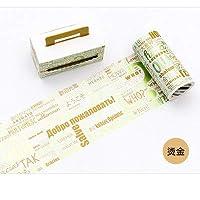 マスキングテープ 和紙テープ カラフル 手帳 アルバム スクラップブッキング DIY ギフト かわいい シール インテリア 飾り 手帳テープ (1)
