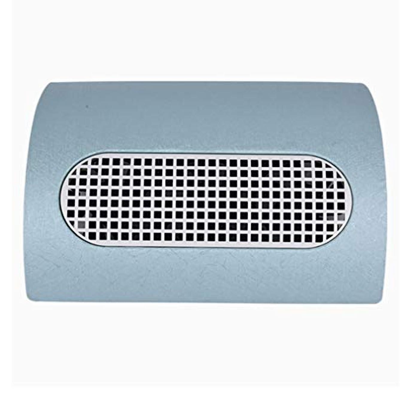 コンプリートエレクトロニックの中で3つのファン釘の塵のコレクターのマニキュア機械 15W 2 つのレベルの速度を調節する釘の集じん器の釘の塵2の塵袋,ブルー