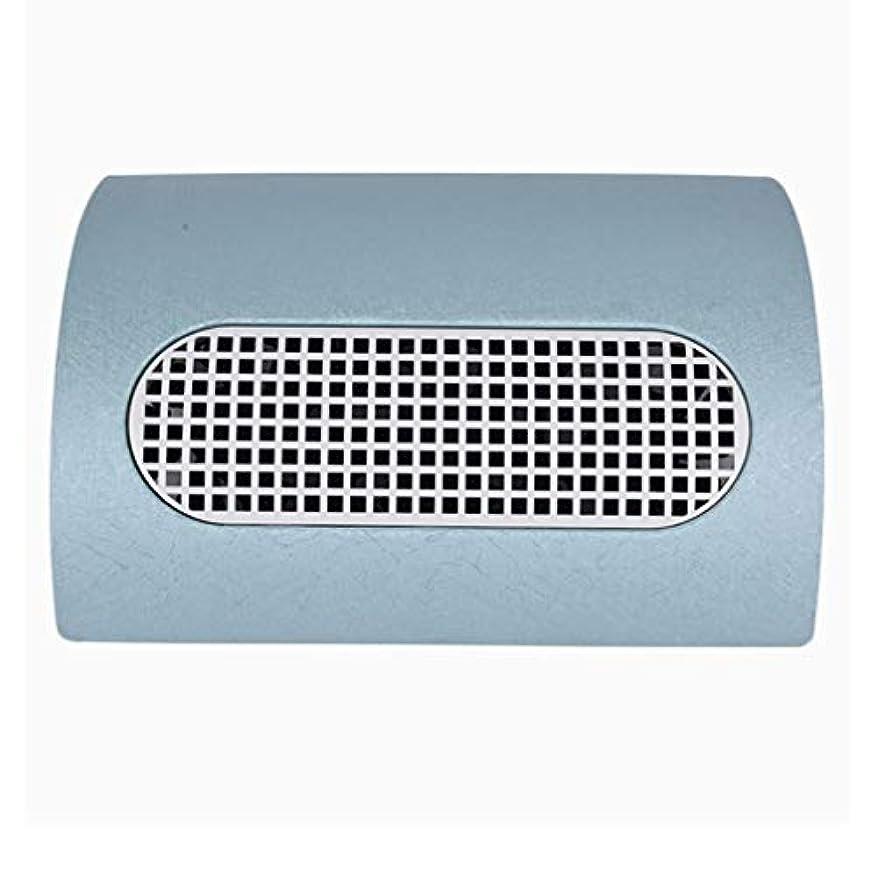 煙シロクマミシン目3つのファン釘の塵のコレクターのマニキュア機械 15W 2 つのレベルの速度を調節する釘の集じん器の釘の塵2の塵袋,ブルー