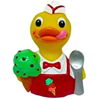 CelebriDucks Chip the Mint-Chocolate-Chip Ice Cream RUBBER DUCK Bath Toy by CelebriDucks [並行輸入品]