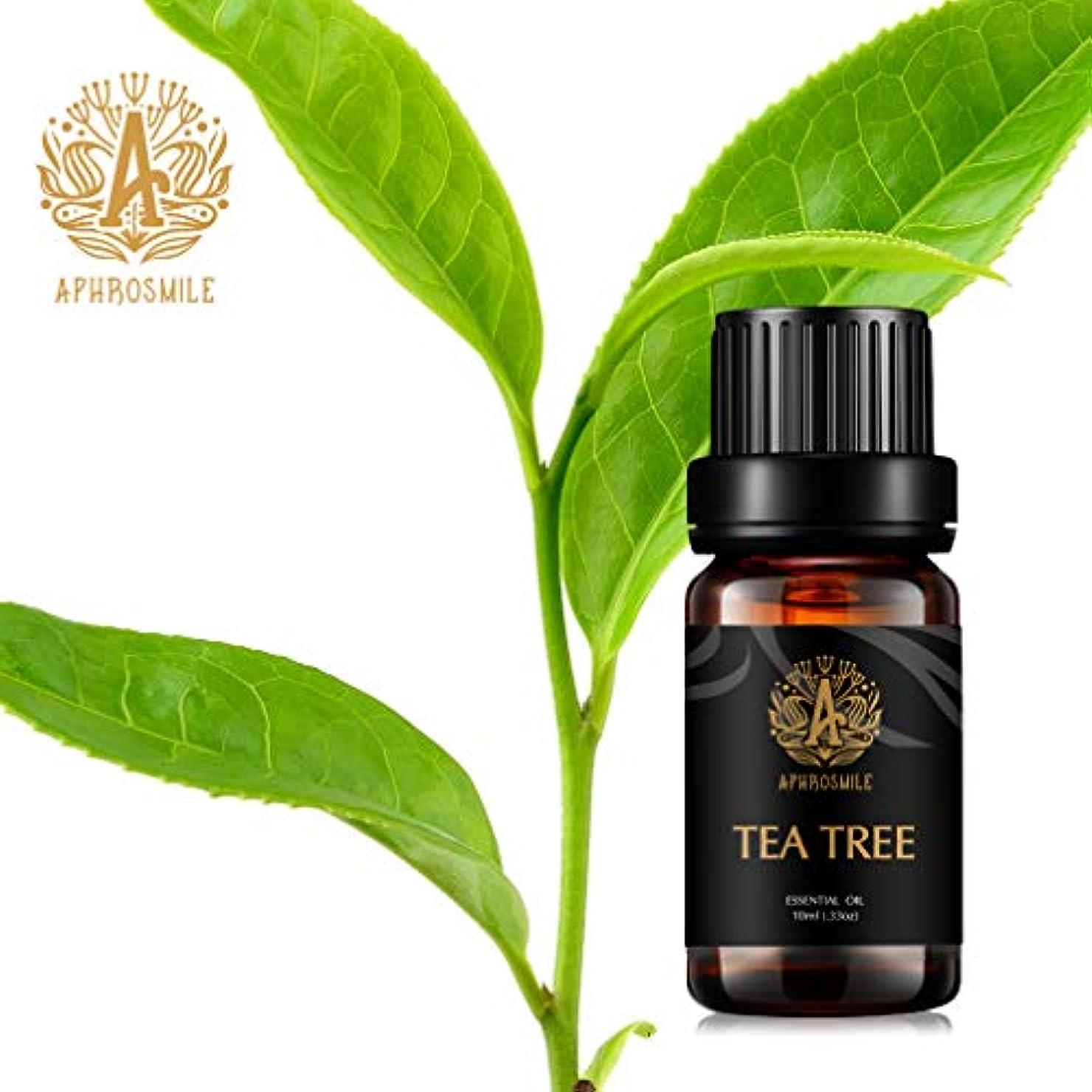 遅いフォーマルハイキングティーツリーの精油、100%純粋なアロマセラピーエッセンシャルオイルティーツリーの香りは、ストレスを解消、治療用グレードエッセンシャルオイルティーツリーの香り、のためディフューザー、マッサージ、加湿器、デイリーケア、0.33オンス-10ml