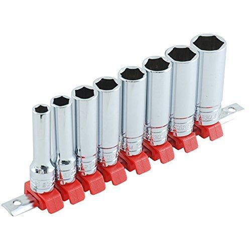 SK11(エスケー11) ディープソケットセット SHS308D クリップ色:赤 差込角:9.5mm 8点 1セット