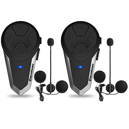 インカム Excelvan BluetoothトランシーバーBT-S3 1000m通信可能 ブラック (二台セット)