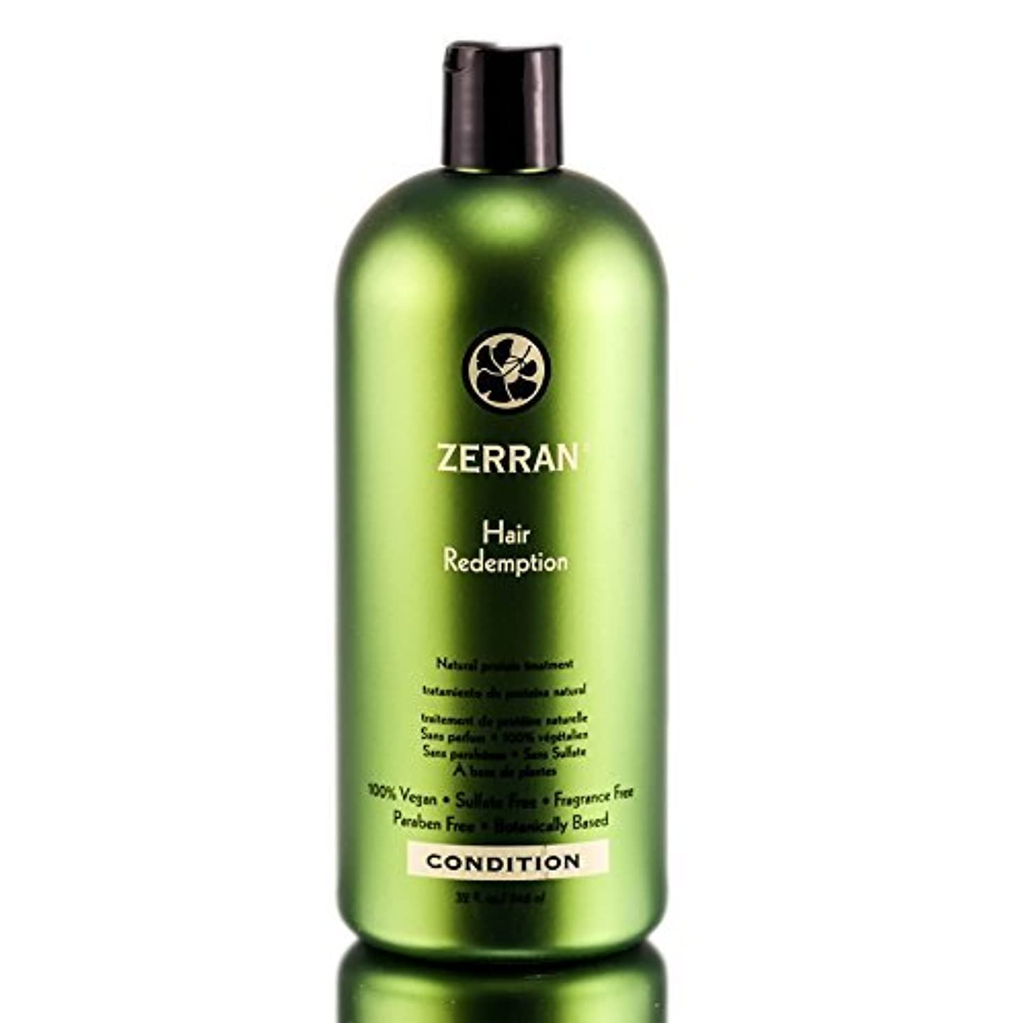 練習した恐ろしいエピソードZerran Hair Care Zerran髪の償還 - emergeny天然のタンパク質の髪の補修 - 33.8オンス/リットル 33.8オンス