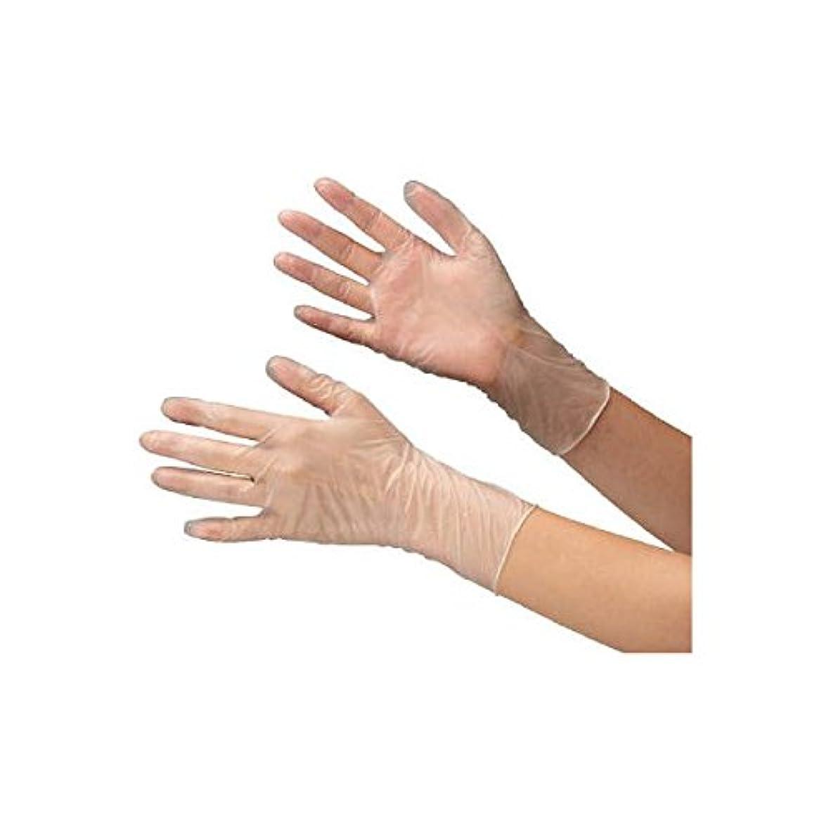 広告ワーディアンケースモットーミドリ安全/ミドリ安全 塩化ビニール製 使い捨て手袋 粉なし 100枚入 LL(3889319) VERTE-851-LL [その他]