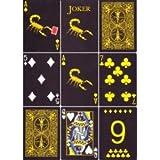 マジックメーカーブラックスコーピオンデッキトランプ Magic Makers Black Scorpion Deck Playing Cards