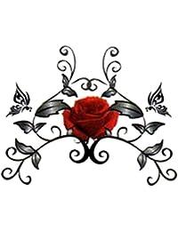 (ファンタジー) TheFantasy タトゥーシール 薔薇 バラ ハート tm0964 【ワンポイント?5枚セット】