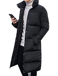 kiden メンズ 中綿 コート ロング 厚手 ジャケット アウトドア 軽量 無地 防風 防寒 通勤 通学 大きいサイズ 冬