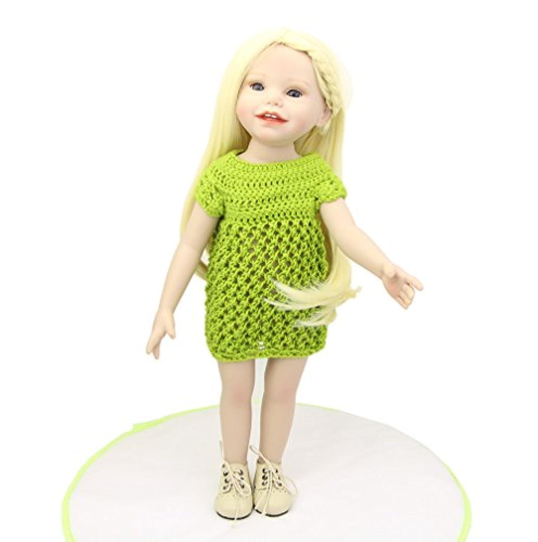 2016新しいスタイル18インチアメリカン人形ガールFullビニールReal LifelikeファッションReborn Dolls赤ちゃんキッズ誕生日クリスマスギフト