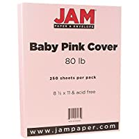 JAM Paperカードストックベーシス 8 1/2╳11インチ 250 Sheets per Pack ピンク