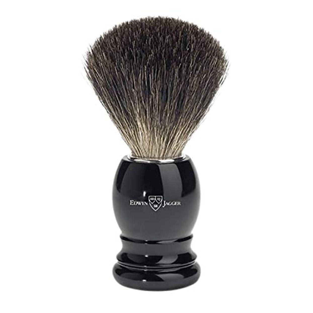 学者不調和植物学者エドウィンジャガー ブラックイミテーションエボニーベストバジャーシェービングブラシ81P26[海外直送品]Edwin Jagger Black Imitation Ebony Best Badger Shaving Brush...