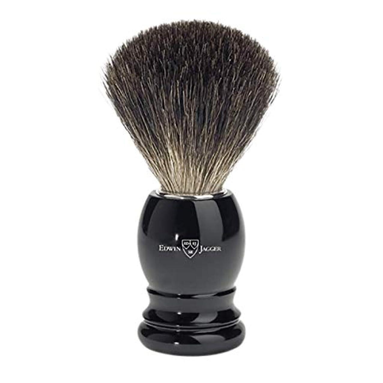 評論家体現する野望エドウィンジャガー ブラックイミテーションエボニーベストバジャーシェービングブラシ81P26[海外直送品]Edwin Jagger Black Imitation Ebony Best Badger Shaving Brush...