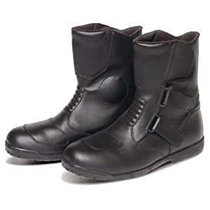 REIT レイト商会 MCP 防水透湿 牛革 ショートライディングブーツ ブラック 24.0cm RB110