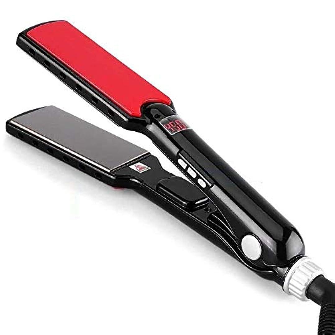 増強レガシーフェザーCQQ ストレートヘアアイロンスプリント、スムージングスチーマーストレートヘアアイロンプロフェッショナルAverセラミックプレート、自動停止ダブル電圧