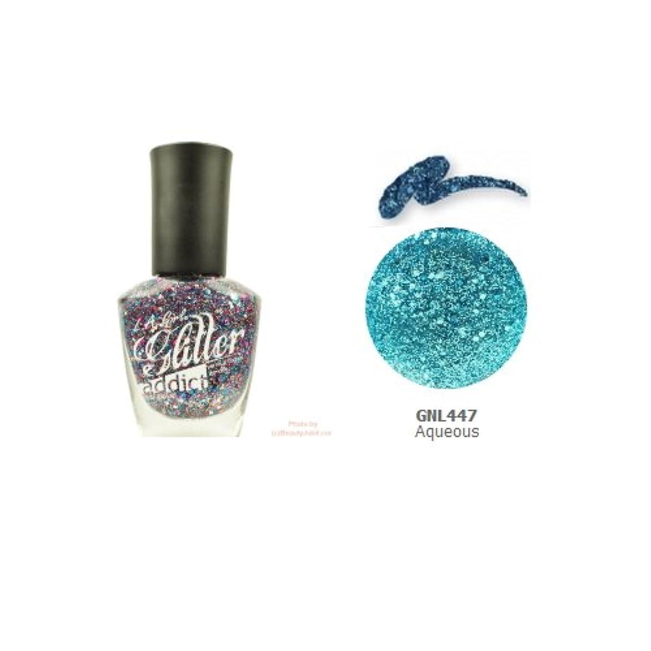 お金ゴム修正する気味の悪い(3 Pack) LA GIRL Glitter Addict Polish - Aqueous (並行輸入品)