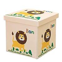 ストレージオットマンオックスフォード布クロスキューブストレージスツール子供のおもちゃの収納ボックスは、強い折り畳み式の変更靴ベンチを座って座ることができます (色 : ベージュ)