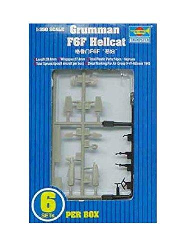 1/350 空母艦載機 (アメリカ大戦機) グラマン F6F ヘルキャット 6入