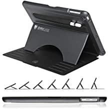 ZUGU CASE - 2018/2017 iPad 5 & 6 Gen (9.7 inch) & iPad Air 1 Prodigy X Case - Very Protective But Thin + Convenient Magnetic Stand + Sleep/Wake Cover (Black)